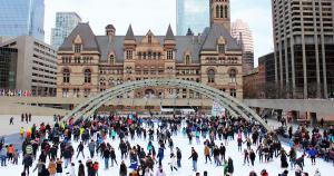 Skating rink at old city hall, Toronto