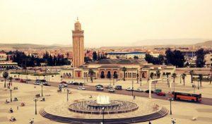 photograph of central oujda, morocco